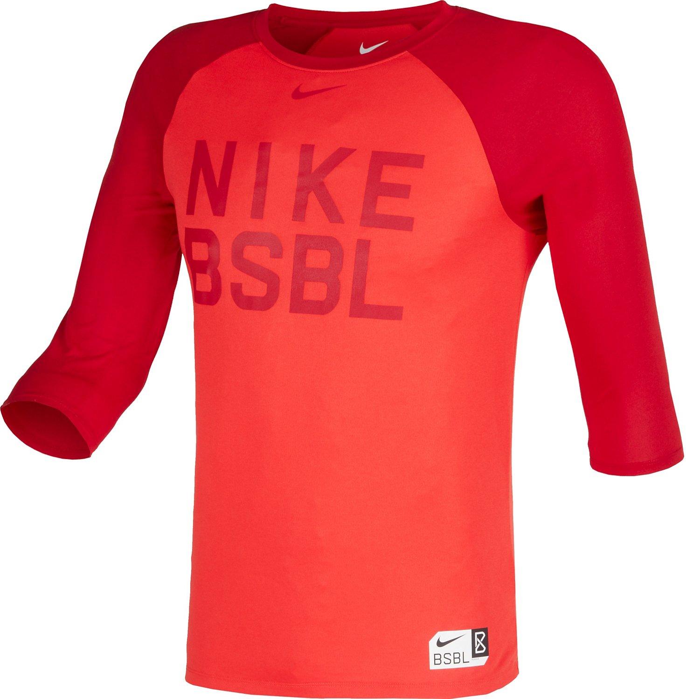 Display product reviews for Nike Men's BSBL Legend 3/4 Raglan Sleeve Top