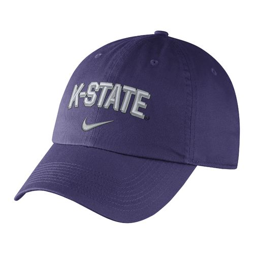 Nike Men's Kansas State University Heritage86 Wordmark Swoosh Flex Cap