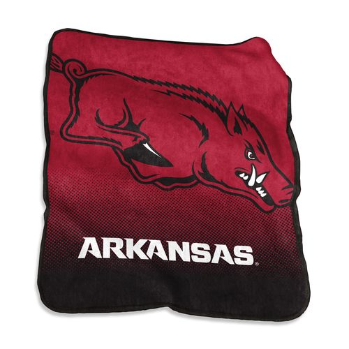 Logo University of Arkansas 50 in x 60 in Raschel Throw - view number 1