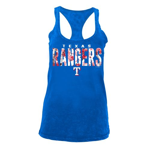 5th & Ocean Clothing Women's Texas Rangers Floral Racerback Tank Top