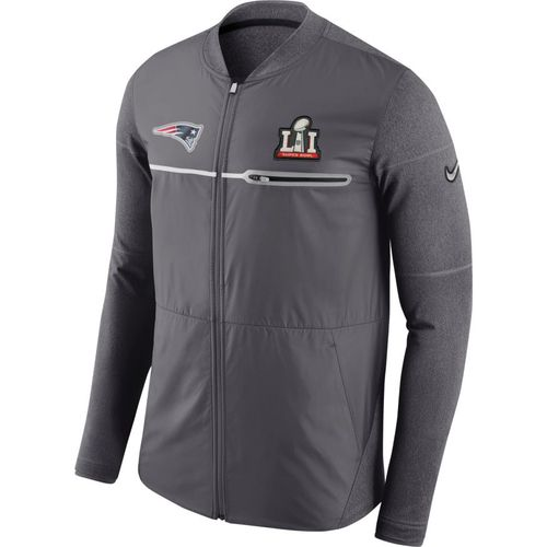 Nike Men's New England Patriots Super Bowl 51 Full Zip Sideline '16 Hybrid Jacket