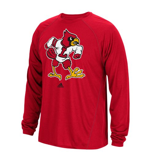 adidas Men's University of Louisville Launch climalite Long Sleeve Shirt
