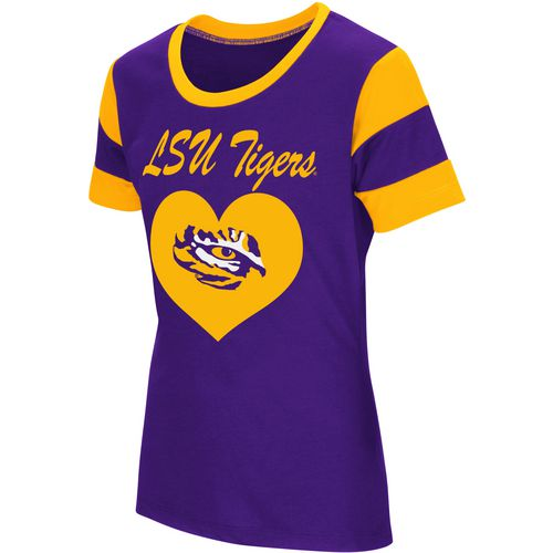 Colosseum Athletics Girls' Louisiana State University Bronze Medal Short Sleeve T-shirt - view number 1