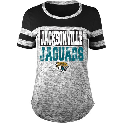 5th & Ocean Clothing Women's Jacksonville Jaguars Space Dye Foil Fan Top