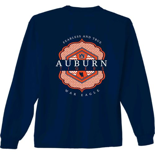 New World Graphics Women's Auburn University Faux Pocket Long Sleeve T-shirt