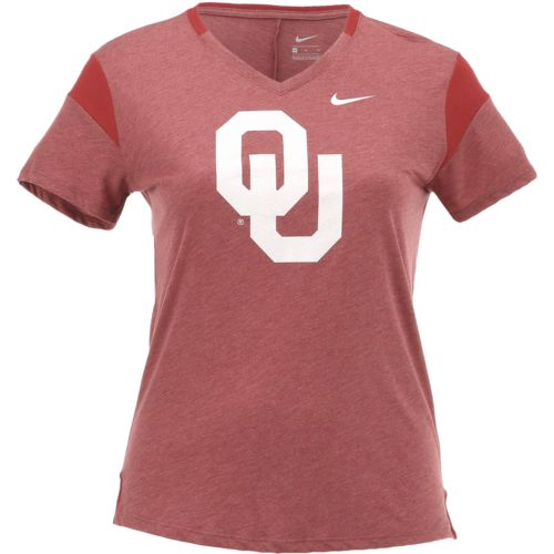 Nike Women's University of Oklahoma Fan V Top T-shirt