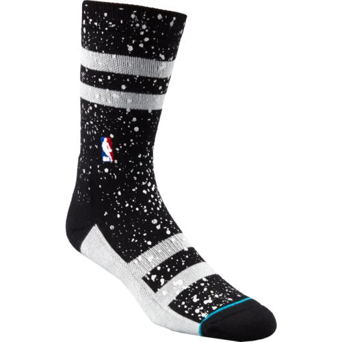Stance Men's San Antonio Spurs Overspray Crew Socks