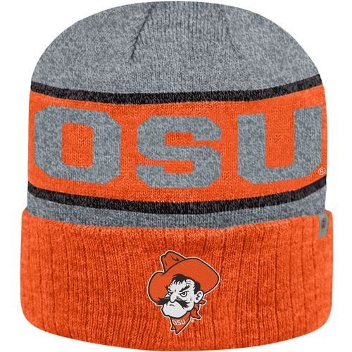Top of the World Men's Oklahoma State University Below Zero Cuff Knit Hat