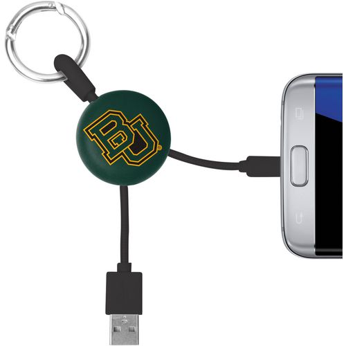 Mizco Baylor University Micro Phone Charger Keychain Cable