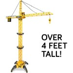 World Tech Toys Big Kids' Construction 4 ft Motorized RC Crane - view number 3