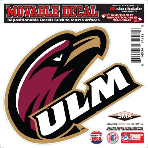 Stockdale University of Louisiana-Monroe 6X6 Single Logo Decal