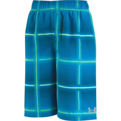 Under Armour Boys' Armor Volt Plaid Volley Swim Shorts