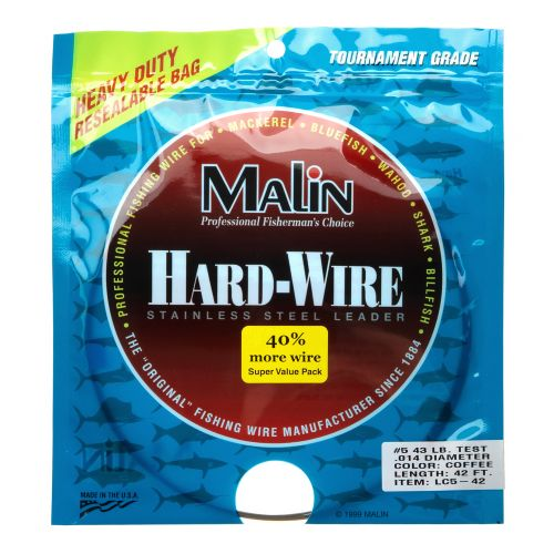 Malin Size 5 42 ft Wire Leader - view number 1