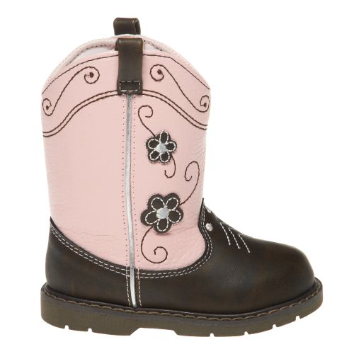 Trimfoot Girls' Natural Steps Walker Western Boots