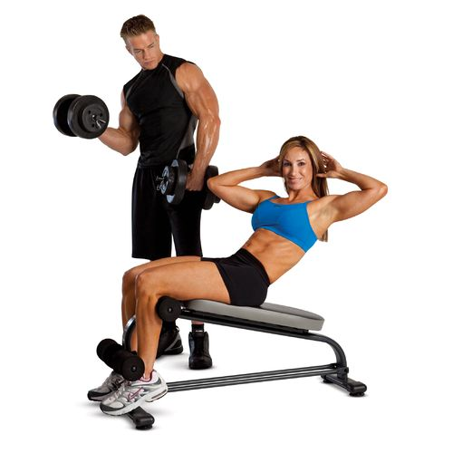 Image for Marcy Specialty Weight Bench with 40 lb. Vinyl Dumbbell Set from Academy