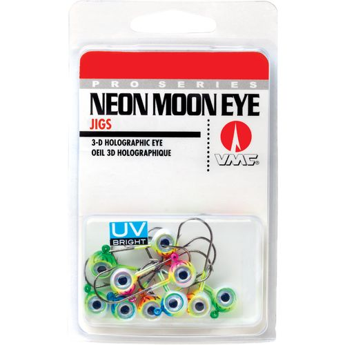VMC Glow Neon Moon Eye Jigheads 10-Piece