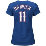 Majestic Women's Texas Rangers Yu Darvish #11 Official T-shirt