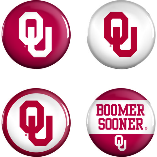 WinCraft University of Oklahoma Buttons 4-Pack
