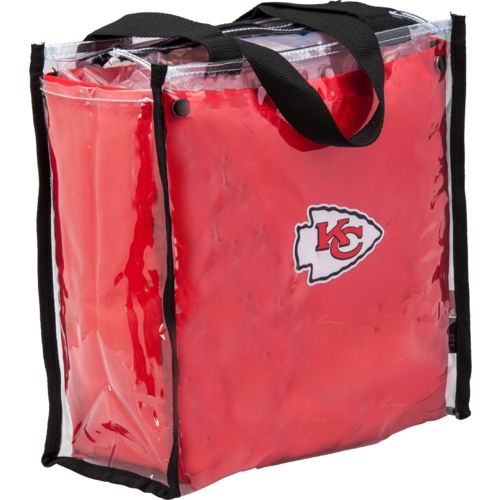 Little Earth Productions Kansas City Chiefs Clear Convertible Square Tote Bag