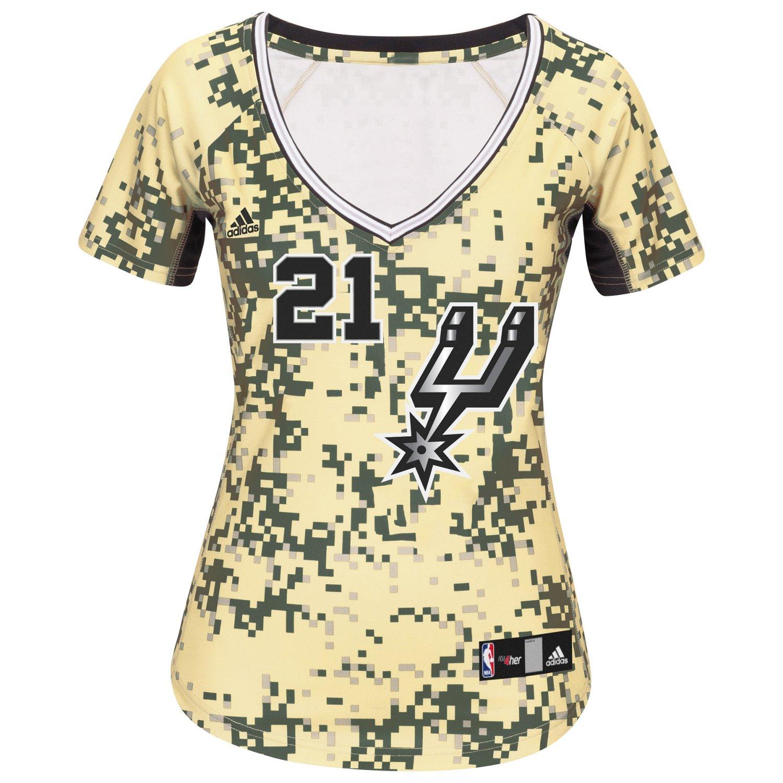adidas™ Women's San Antonio Spurs Tim Duncan #21 Replica Jersey