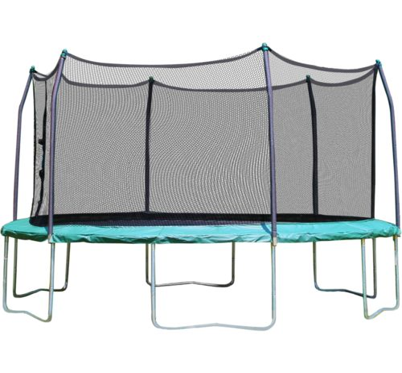 skywalker trampolines 15u0027 round trampoline with enclosure view number 1