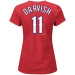 Majestic Women's Texas Rangers Yu Darvish #11 T-shirt