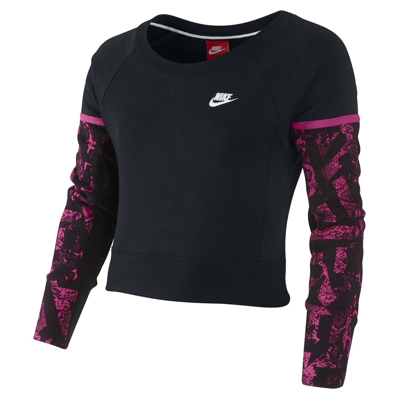 Nike Girls' Futura Semi-brushed Long Sleeve Crew Top
