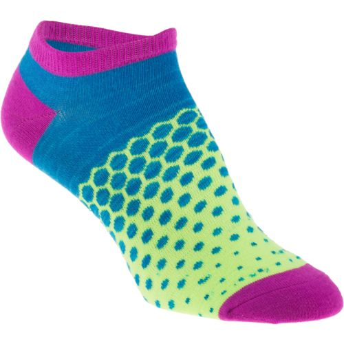 BCG Girls' Bright Multipattern No-Show Socks