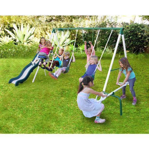 Display product reviews for Sportspower Live Oak Metal Swing and Slide Set