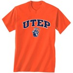 New World Graphics Men's University of Texas at El Paso Arch Mascot T-shirt