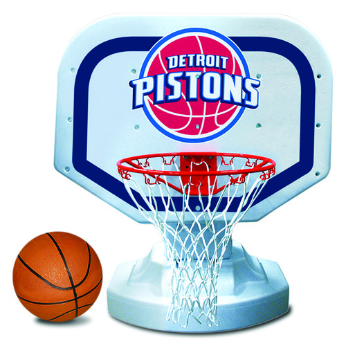 Poolmaster® Detroit Pistons Competition Style Poolside Basketball Game