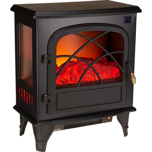 Konwin Home Freestanding Log Effect 3-Sided Glass Electric Stove