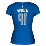 adidas™ Women's Dallas Mavericks Dirk Nowitzki #41 Game Time T-shirt