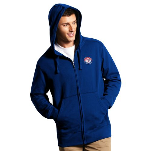 Antigua Men's Texas Rangers Signature Full Zip Hoodie - view number 1