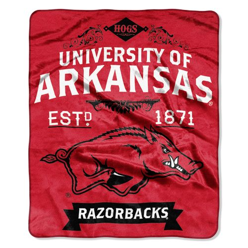 The Northwest Company University of Arkansas Label Raschel Throw