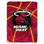 The Northwest Company Miami Heat Shadow Play Super Plush Throw - view number 1