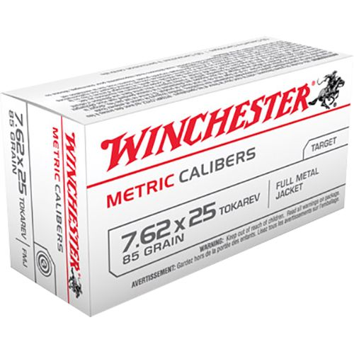Display product reviews for Winchester Metric 7.62 x 25mm Tokarev 85-Grain Full Metal Jacket Centerfire Rifle Ammunition