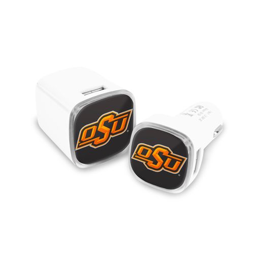 Mizco Oklahoma State University USB Chargers 2-Pack