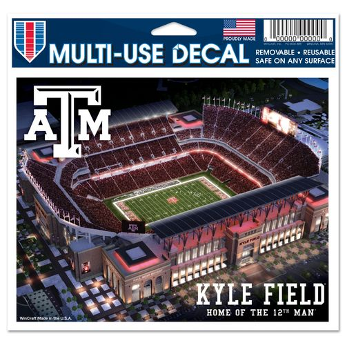 WinCraft Texas A&M University Stadium Multiuse Colored Decal