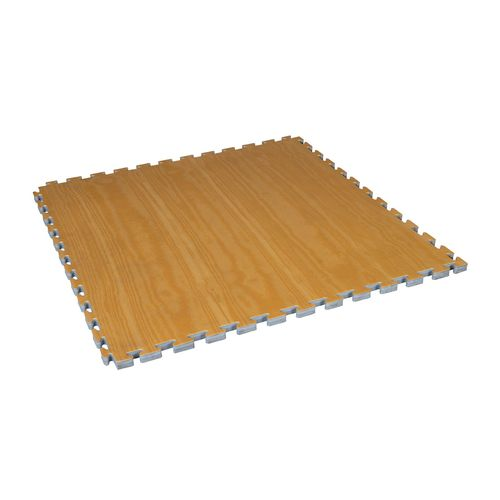 Century Wood Grain Reversible Puzzle Mat