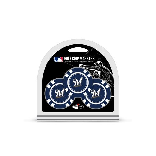Team Golf Milwaukee Brewers Poker Chip and Golf Ball Marker Set - view number 1