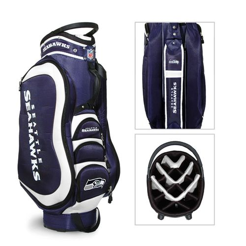 Team Golf Seattle Seahawks Medalist Golf Cart Bag