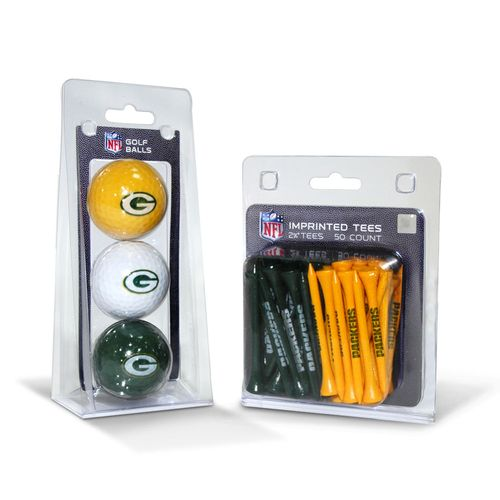 Team Golf Green Bay Packers Golf Balls and Tees Set