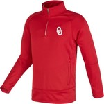 Majestic Men's University of Oklahoma Section 101 1/4 Zip Synthetic Fleece Pullover