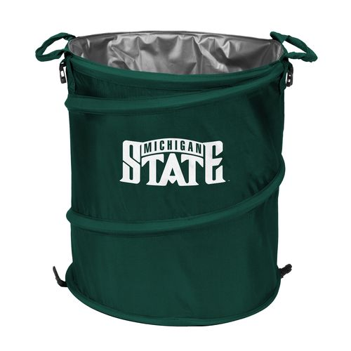 New Logo Michigan State University Collapsible 3-in-1 Cooler/Hamper/Wastebasket for sale