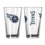 Boelter Brands Tennessee Titans Game Day 16 oz. Pint Glasses 2-Pack