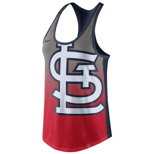 Nike™ Women's St. Louis Cardinals Triblend Color Fade Tank Top