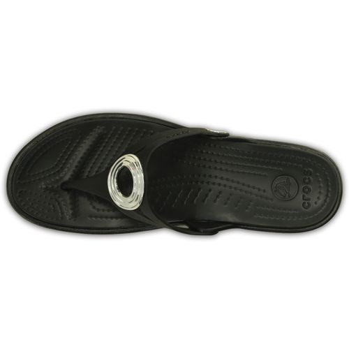 Crocs Women's Sanrah Beveled Circle Wedge Flip-Flops - view number 4
