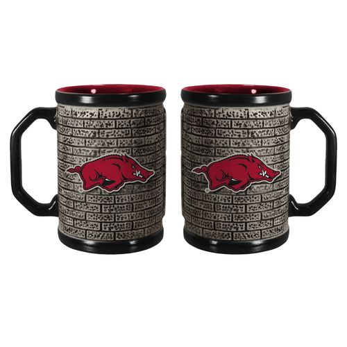 Boelter Brands University of Arkansas Stone Wall 15 oz. Coffee Mugs 2-Pack