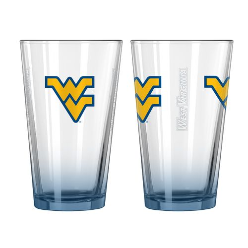 Boelter Brands West Virginia University Elite 16 oz. Pint Glasses 2-Pack